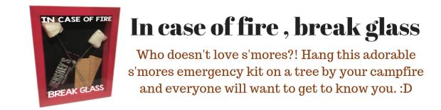 In case of fire , break glass